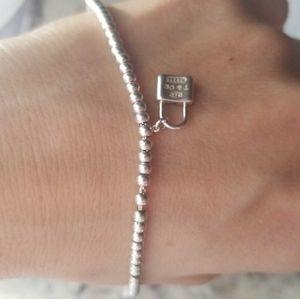 Tiffany beaded bracelet with lock